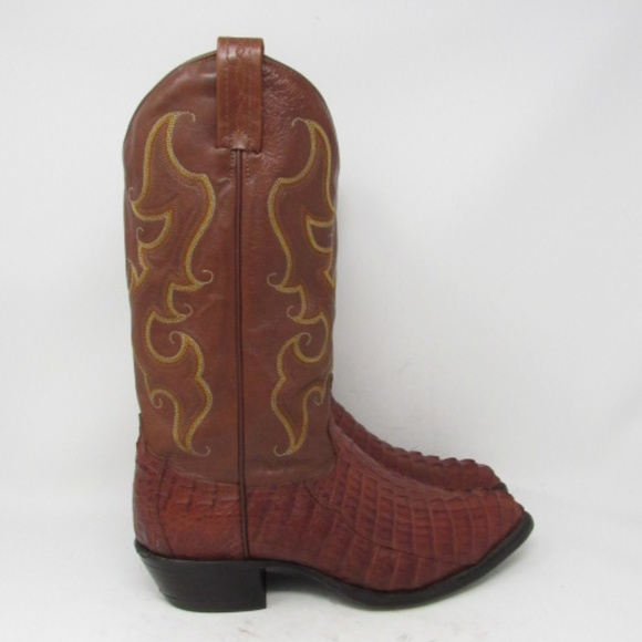 81866a25299 🇺🇸 Tony Lama caiman cowboy boots mens size 10.5D